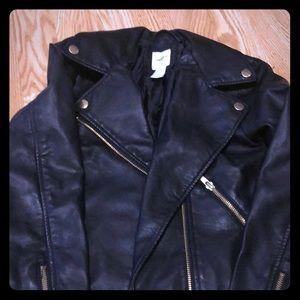 Girls cute leather jacket